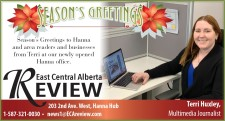 Season's Greetings to Hanna and area readers and businesses