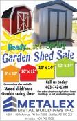 Metalex Garden Shed Sale