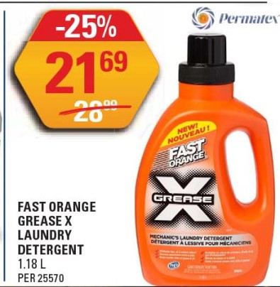 FAST ORANGE GREASE X LAUNDRY DETERGENT