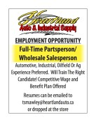 Heartland Auto & Industrial Supply  EMPLOYMENT OPPORTUNITY