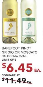 Barefoot Pinot Grigio Or Moscato
