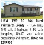 11.96 acres, 1396 sqft, 3 bedroom home for sale