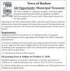 Town of Bashaw  Job Opportunity