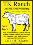 TK Ranch Custom Meat Processing Now Open