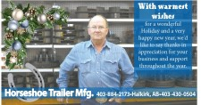 With warmest wishes for a wonderful Holiday from Horeshoe Trailer