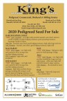 2020 Pedigreed Seed For Sale