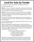 Land for Sale by Tender