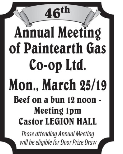 46th Annual Meeting of Paintearth Gas Co-op Ltd.