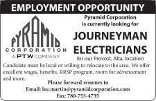 Pyramid Corporation is currently looking for JOURNEYMAN ELECTRICIANS
