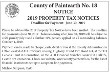 2019 PROPERTY TAX NOTICES